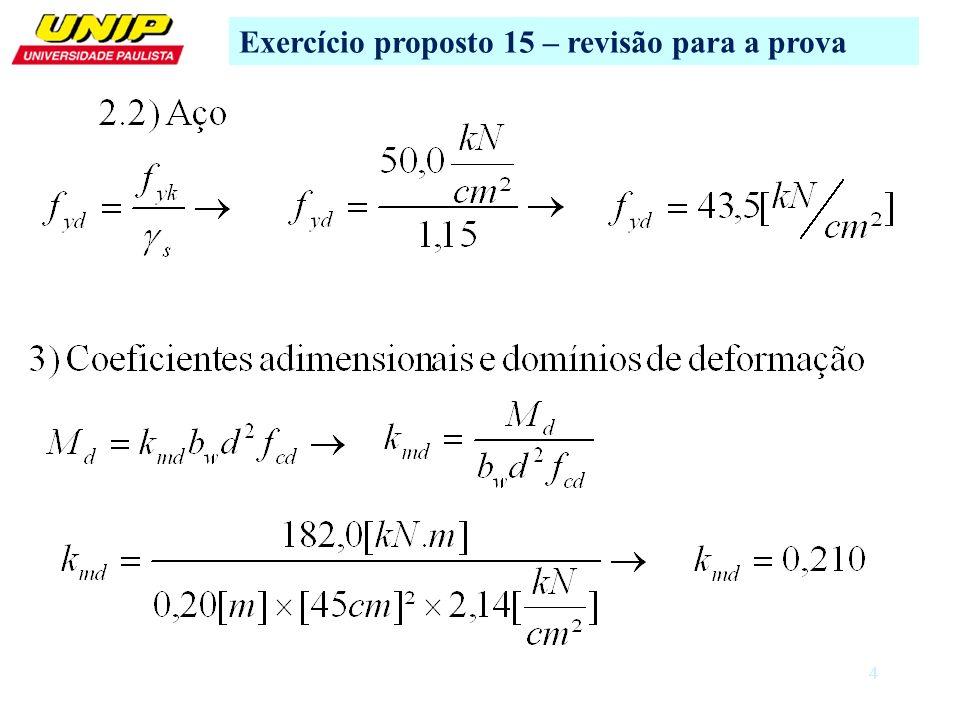 Exercício proposto 15 – revisão para a prova