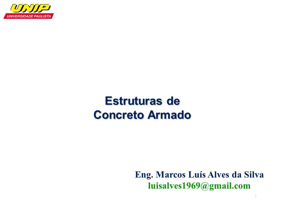 Estruturas de Concreto Armado Eng. Marcos Luís Alves da Silva