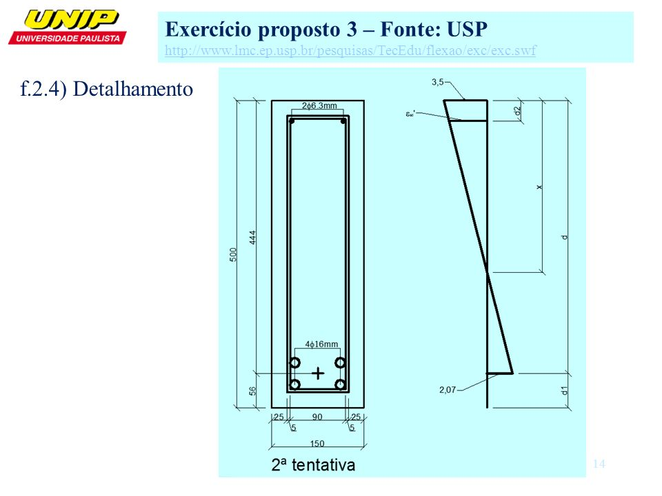 Exercício proposto 3 – Fonte: USP