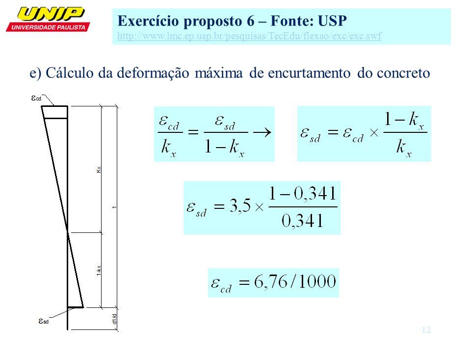 Exercício proposto 6 – Fonte: USP