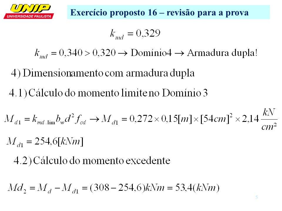 Exercício proposto 16 – revisão para a prova