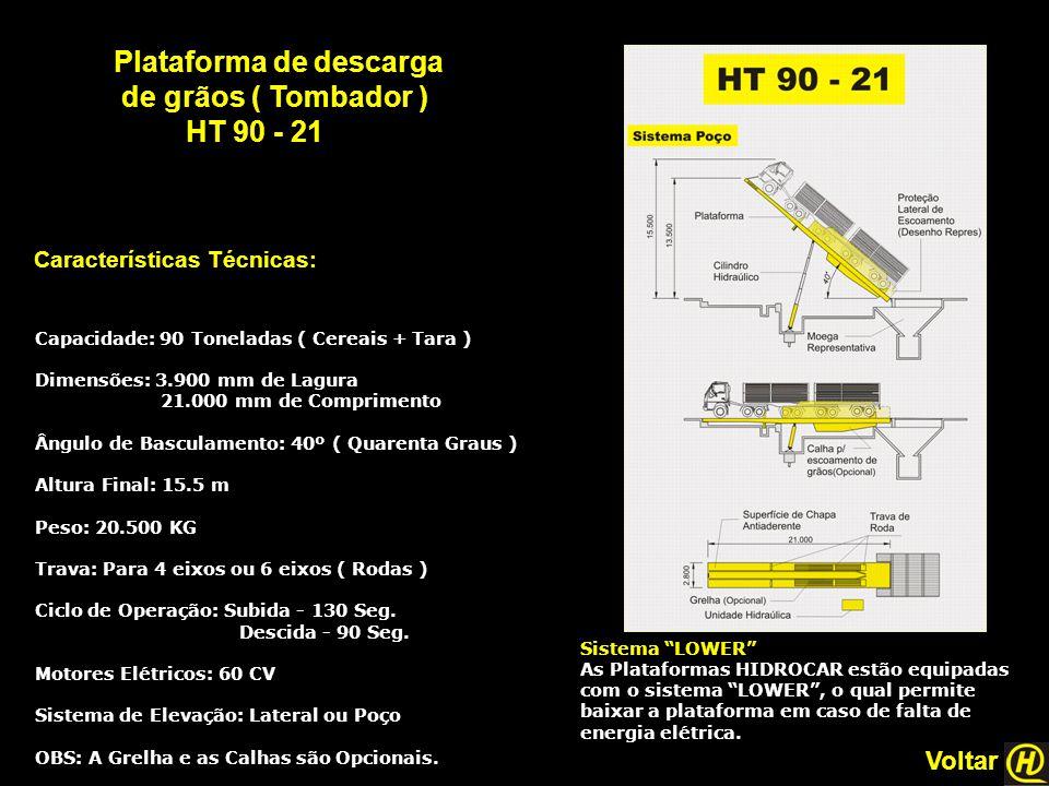 Plataforma de descarga de grãos ( Tombador ) HT 90 - 21