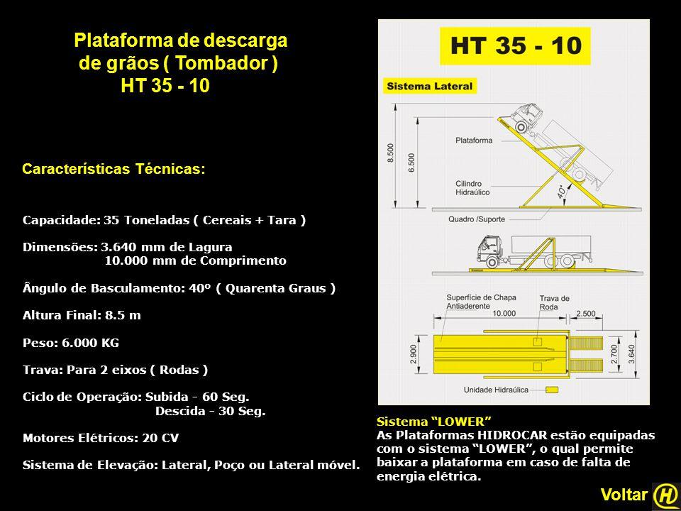 Plataforma de descarga de grãos ( Tombador ) HT 35 - 10
