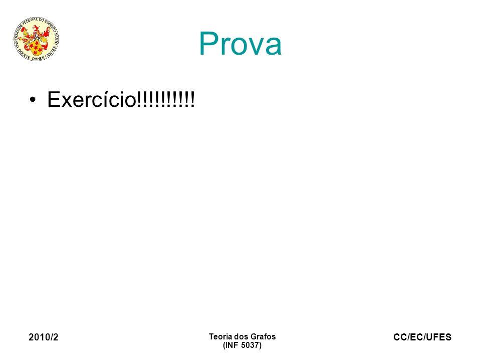 Prova Exercício!!!!!!!!!! 2010/2 Teoria dos Grafos (INF 5037) 16