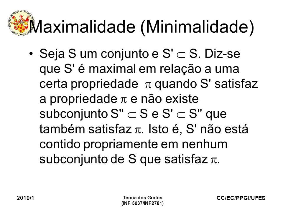 Maximalidade (Minimalidade)