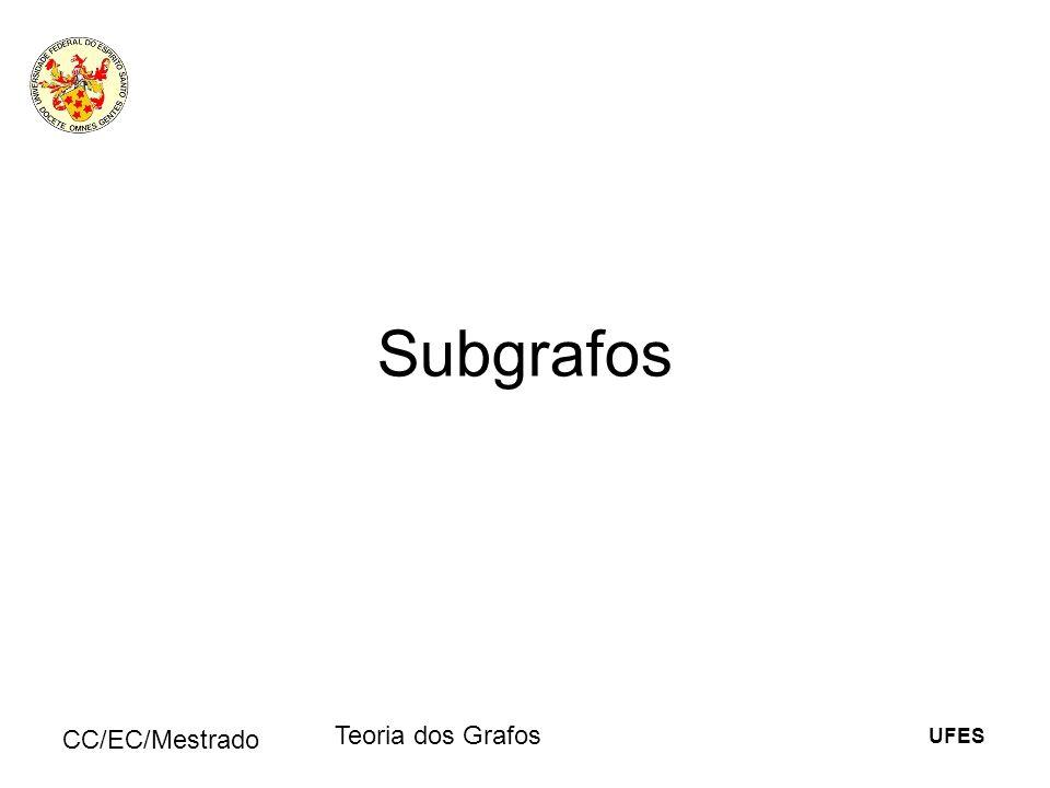 Subgrafos CC/EC/Mestrado Teoria dos Grafos