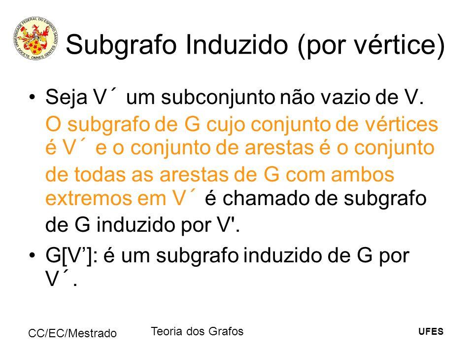 Subgrafo Induzido (por vértice)