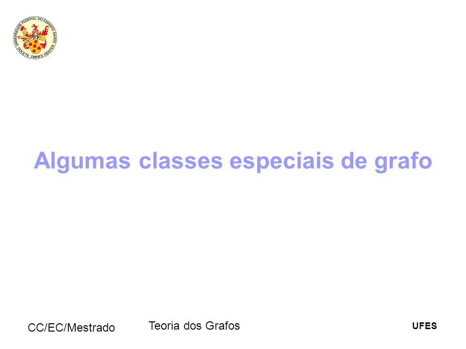 Algumas classes especiais de grafo