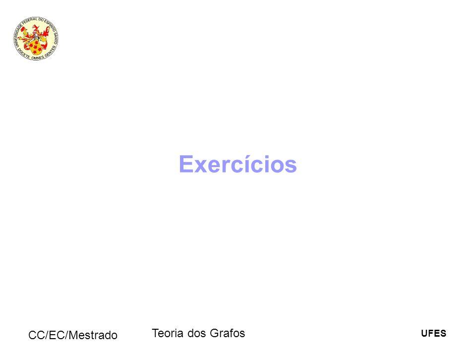 Exercícios CC/EC/Mestrado Teoria dos Grafos