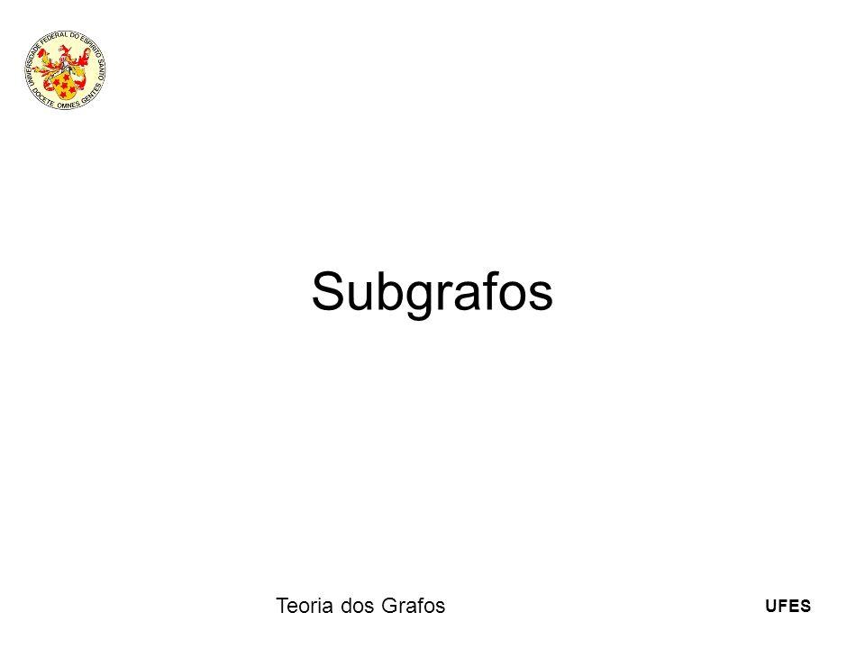 Subgrafos Teoria dos Grafos 12