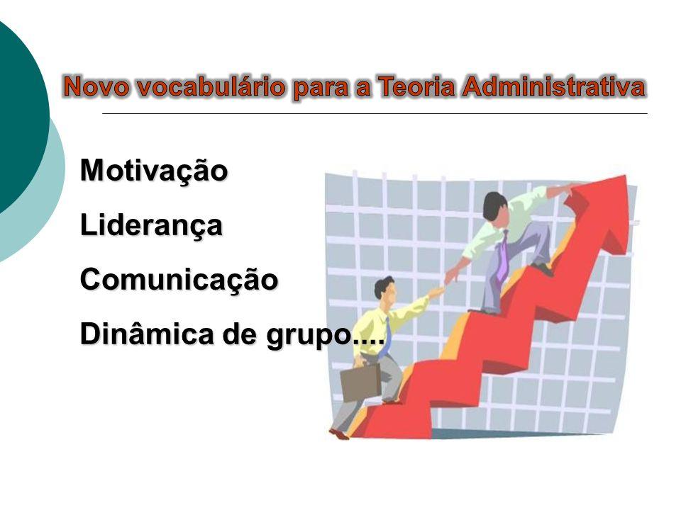 Motivação Liderança Comunicação Dinâmica de grupo....