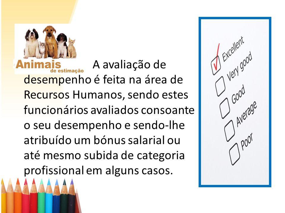 A avaliação de desempenho é feita na área de Recursos Humanos, sendo estes funcionários avaliados consoante o seu desempenho e sendo-lhe atribuído um bónus salarial ou até mesmo subida de categoria profissional em alguns casos.