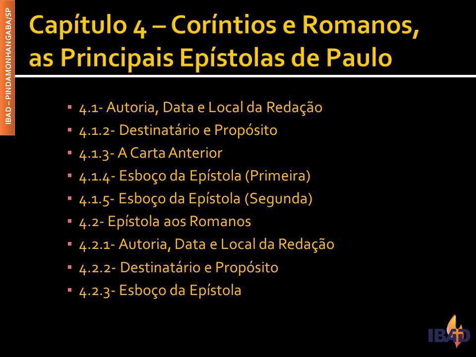 Capítulo 4 – Coríntios e Romanos, as Principais Epístolas de Paulo