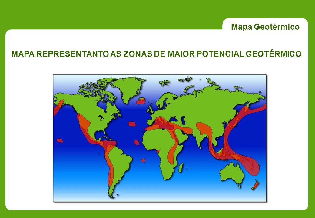 MAPA REPRESENTANTO AS ZONAS DE MAIOR POTENCIAL GEOTÉRMICO