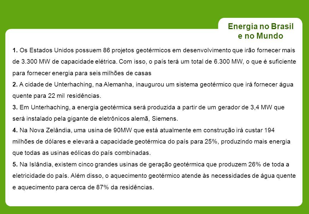 Energia no Brasil e no Mundo