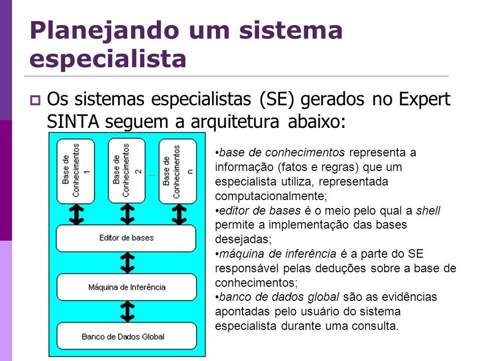 Planejando um sistema especialista