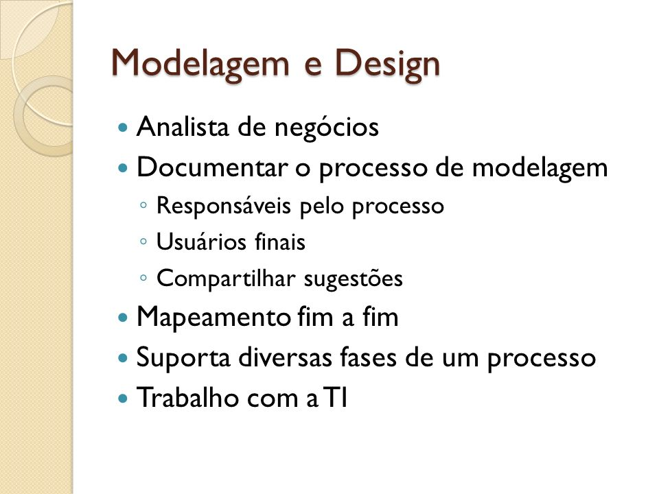 Modelagem e Design Analista de negócios