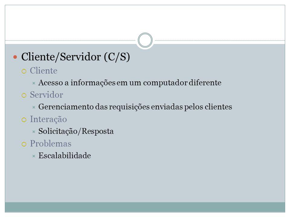 Cliente/Servidor (C/S)
