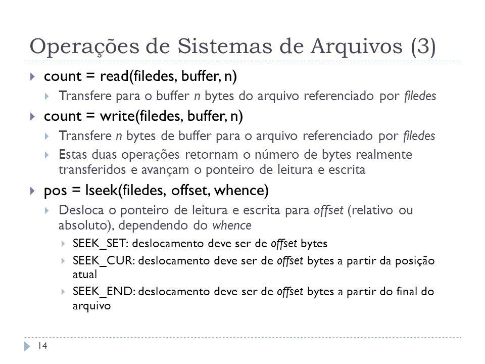Operações de Sistemas de Arquivos (3)
