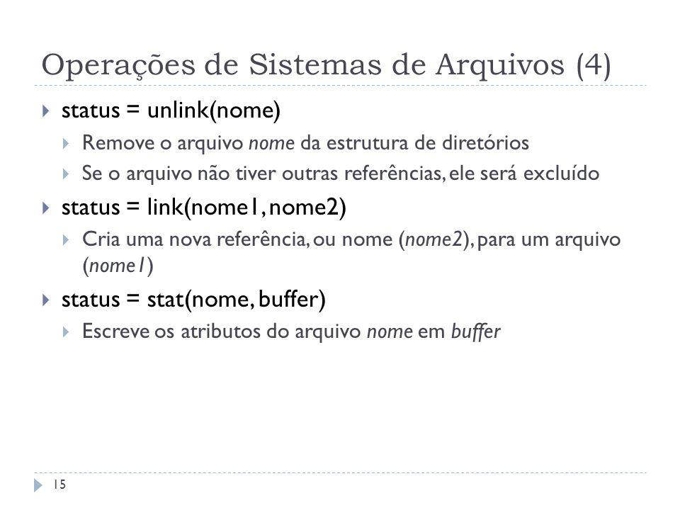 Operações de Sistemas de Arquivos (4)