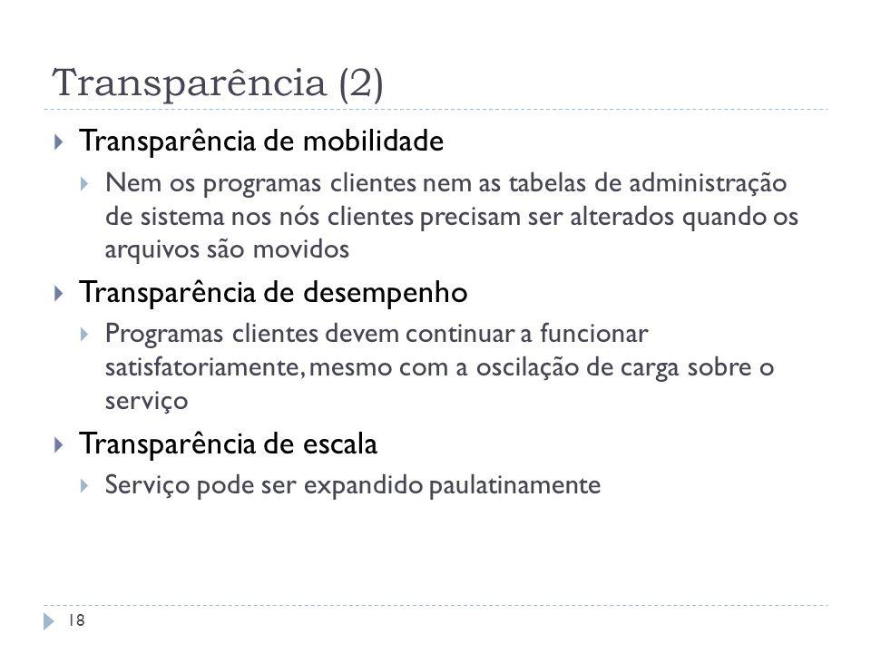 Transparência (2) Transparência de mobilidade