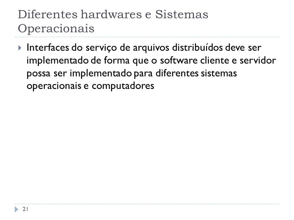 Diferentes hardwares e Sistemas Operacionais