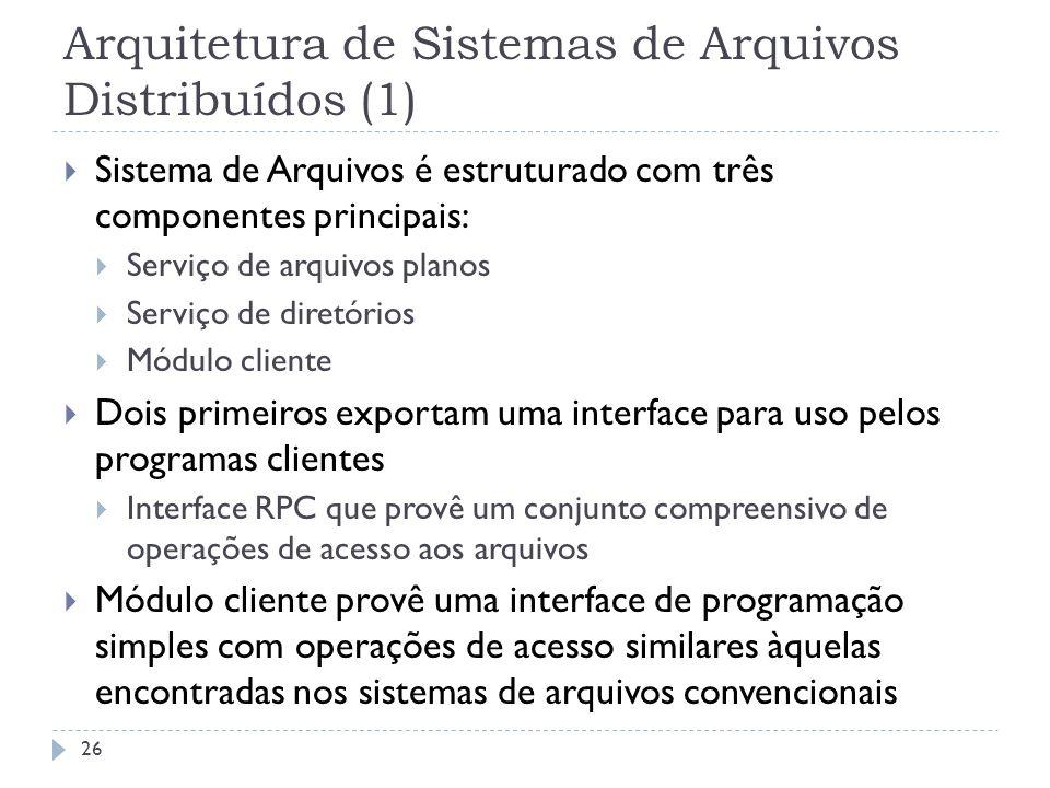 Arquitetura de Sistemas de Arquivos Distribuídos (1)