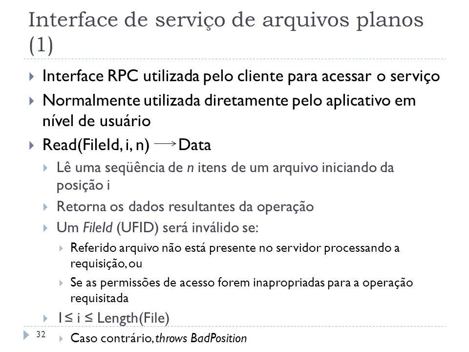 Interface de serviço de arquivos planos (1)