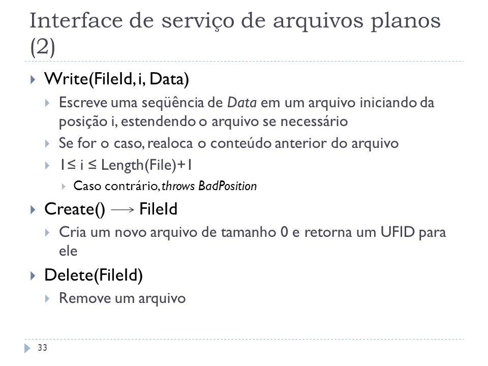 Interface de serviço de arquivos planos (2)