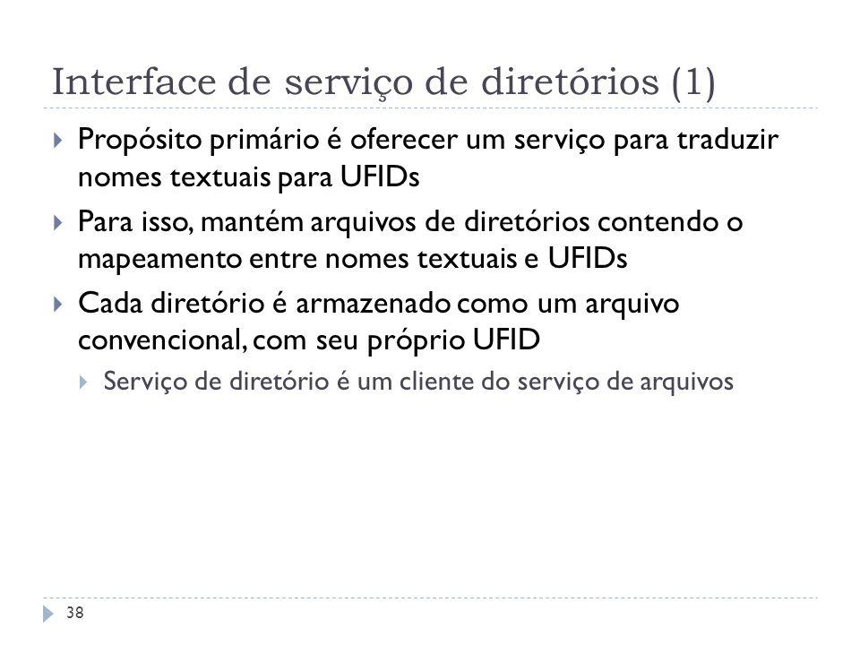 Interface de serviço de diretórios (1)