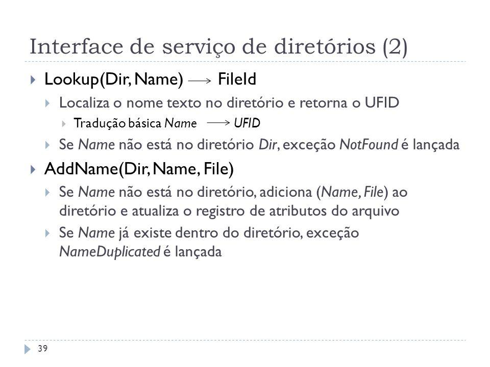 Interface de serviço de diretórios (2)