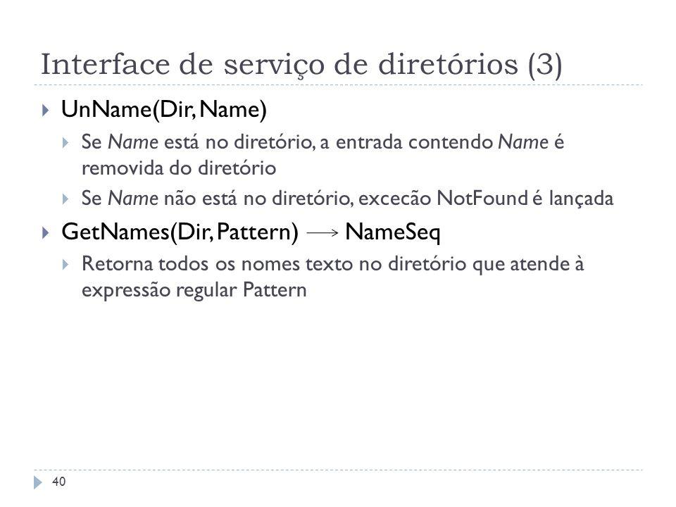 Interface de serviço de diretórios (3)