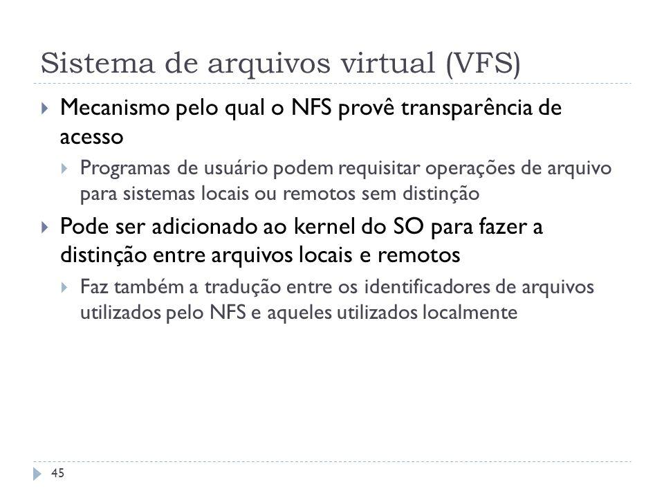 Sistema de arquivos virtual (VFS)