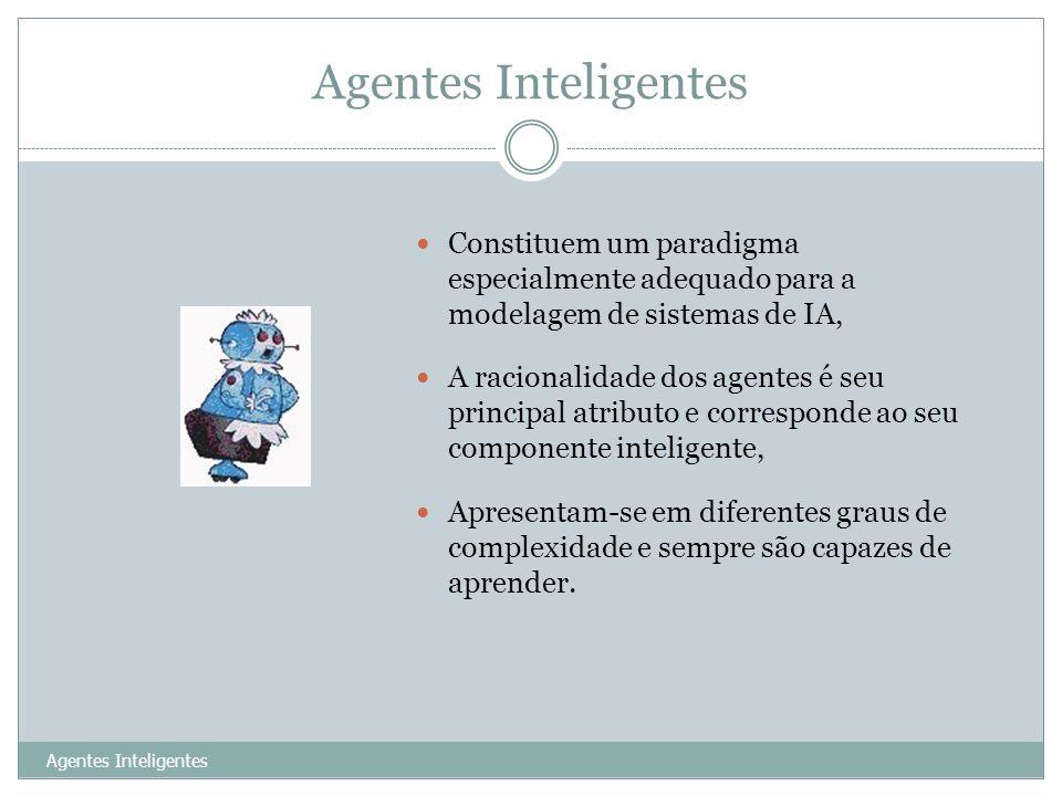 Agentes InteligentesConstituem um paradigma especialmente adequado para a modelagem de sistemas de IA,