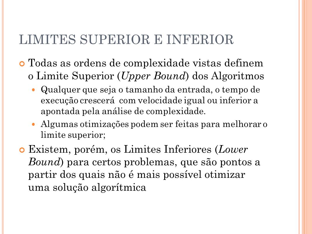 LIMITES SUPERIOR E INFERIOR