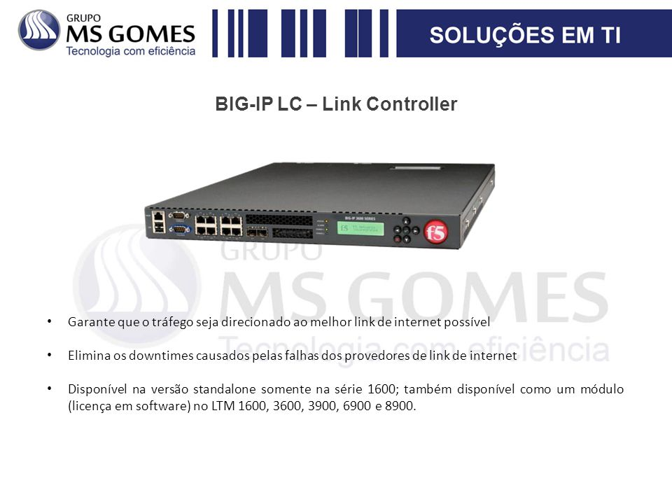 BIG-IP LC – Link Controller