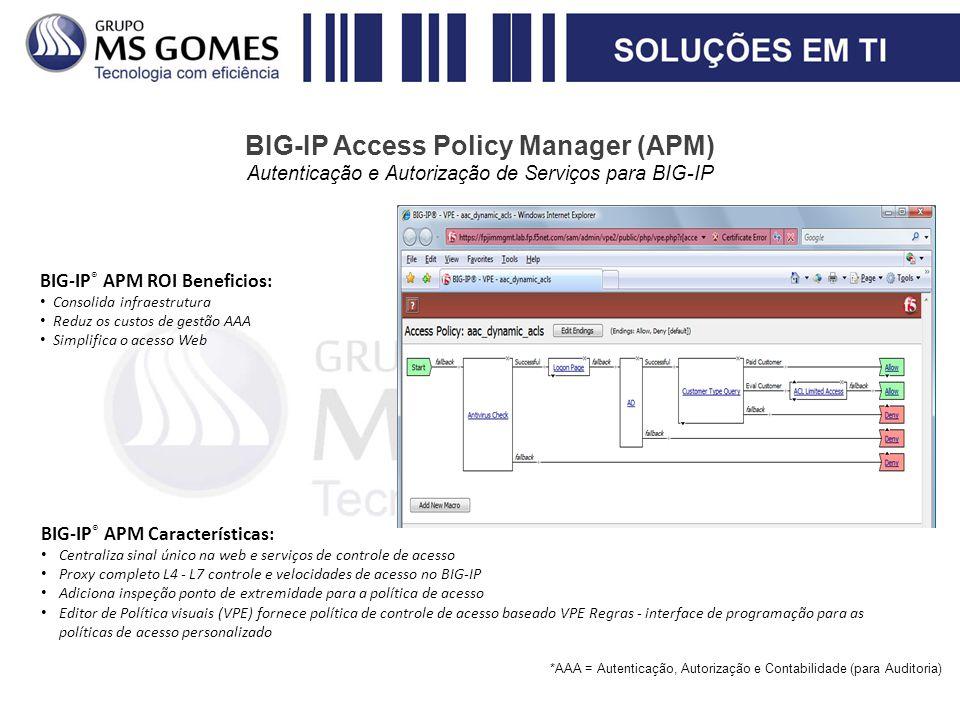 BIG-IP Access Policy Manager (APM) Autenticação e Autorização de Serviços para BIG-IP