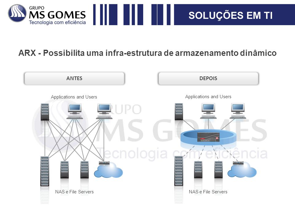 ARX - Possibilita uma infra-estrutura de armazenamento dinâmico