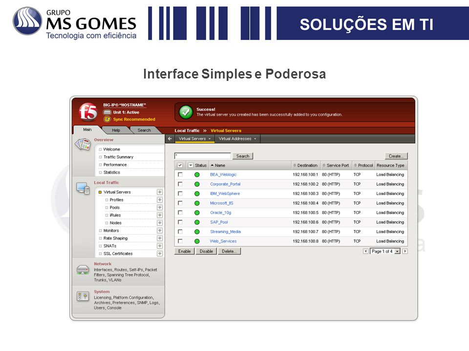 Interface Simples e Poderosa