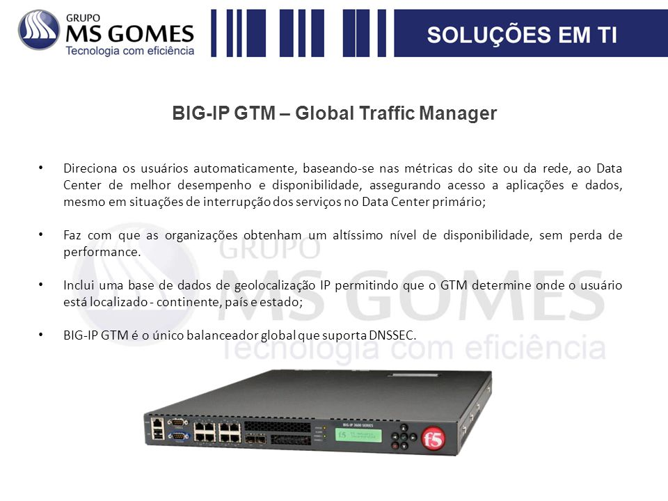 BIG-IP GTM – Global Traffic Manager