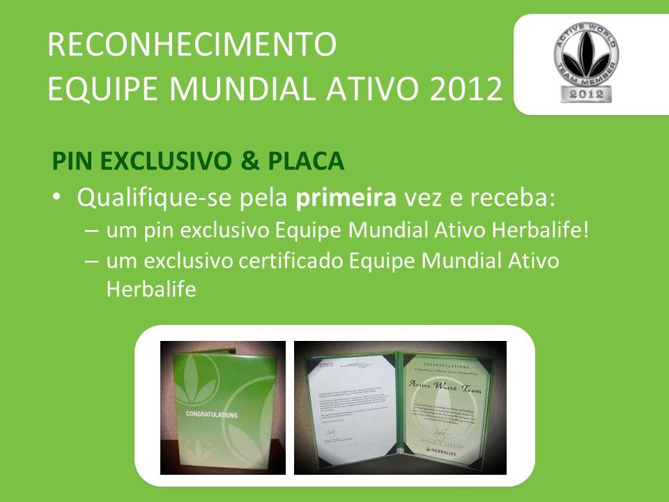 RECONHECIMENTO EQUIPE MUNDIAL ATIVO 2012