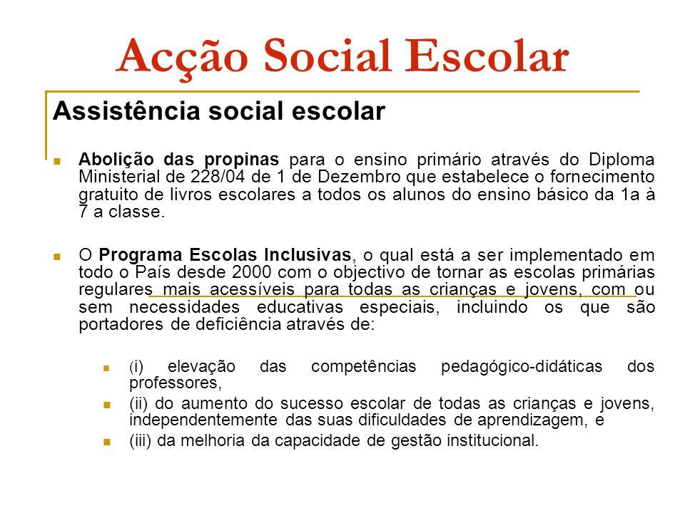 Acção Social Escolar Assistência social escolar
