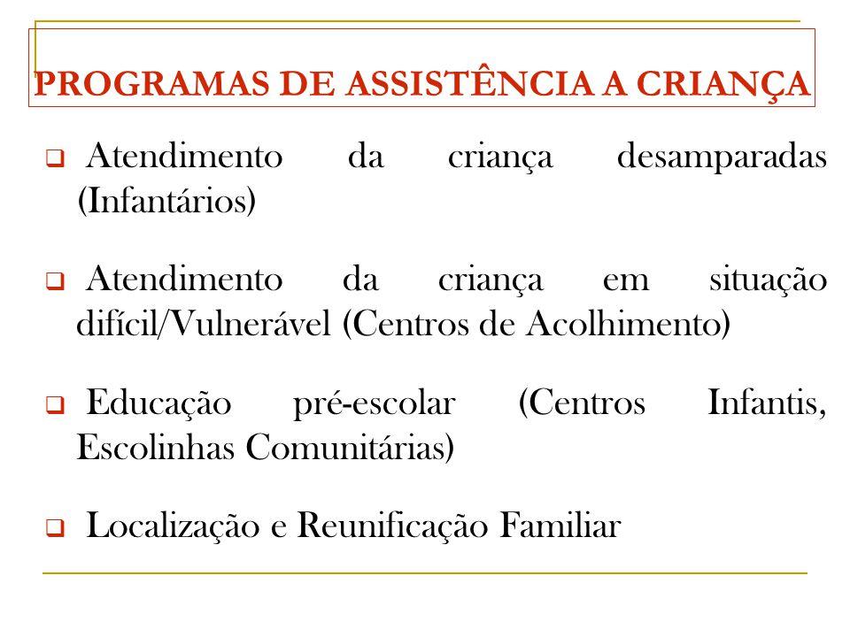 PROGRAMAS DE ASSISTÊNCIA A CRIANÇA