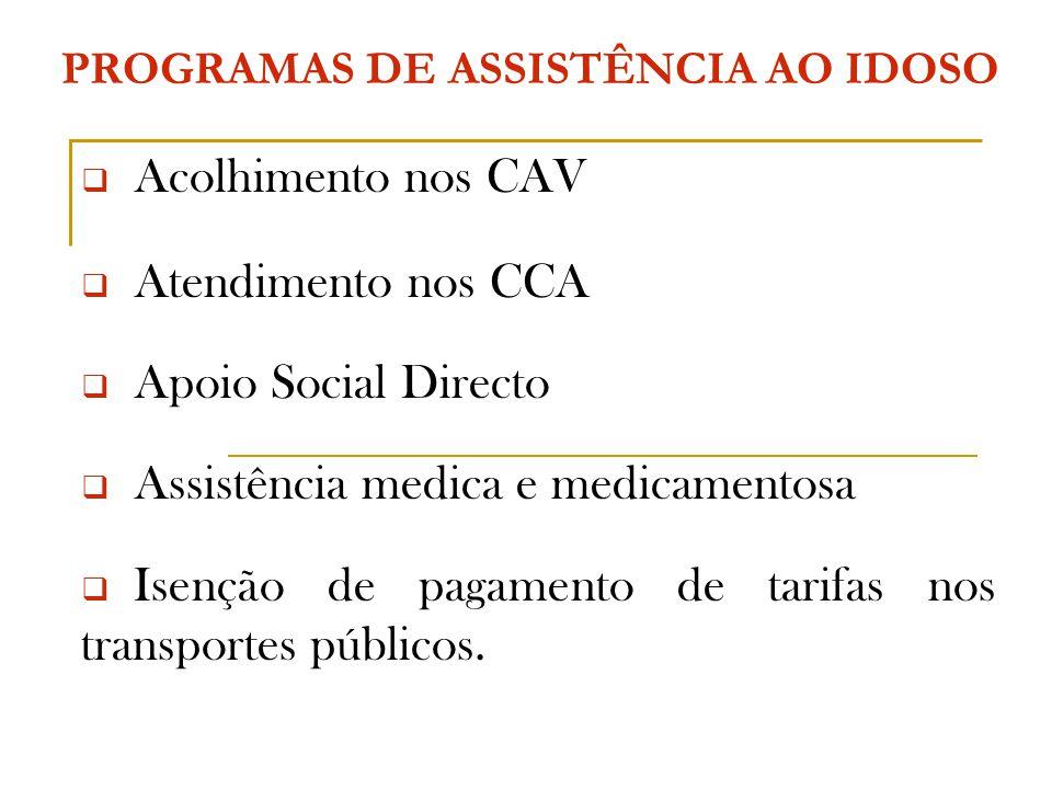 PROGRAMAS DE ASSISTÊNCIA AO IDOSO