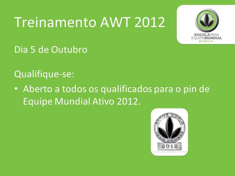 Treinamento AWT 2012 Dia 5 de Outubro Qualifique-se: