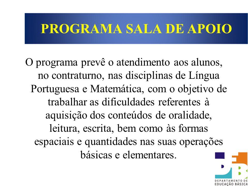 PROGRAMA SALA DE APOIO
