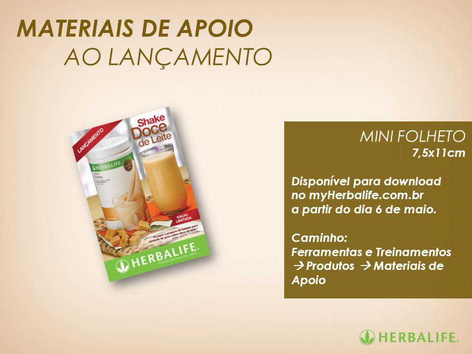MATERIAIS DE APOIO AO LANÇAMENTO