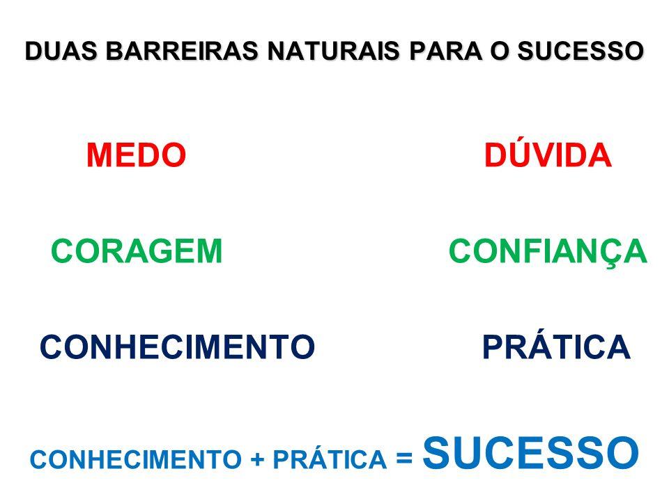 DUAS BARREIRAS NATURAIS PARA O SUCESSO