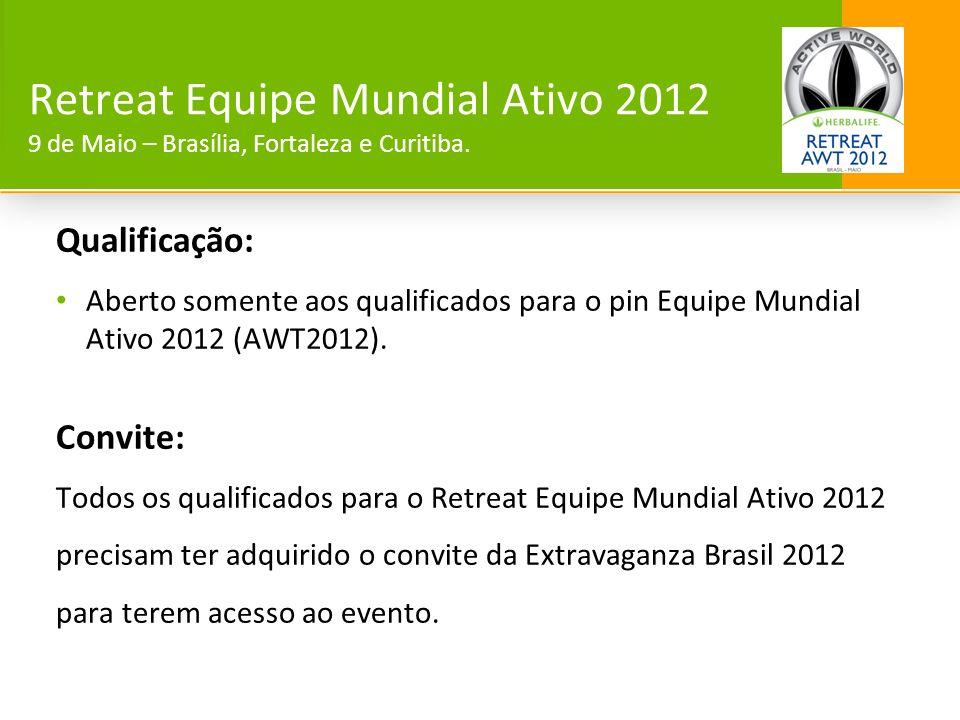 Retreat Equipe Mundial Ativo 2012 9 de Maio – Brasília, Fortaleza e Curitiba.