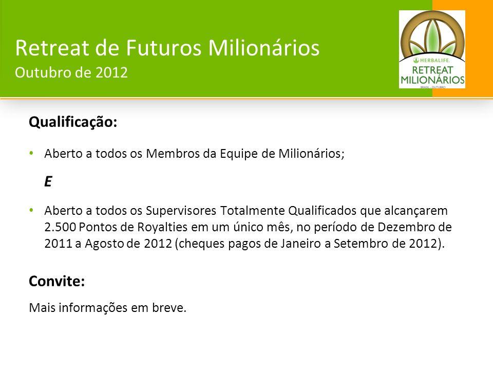 Retreat de Futuros Milionários Outubro de 2012